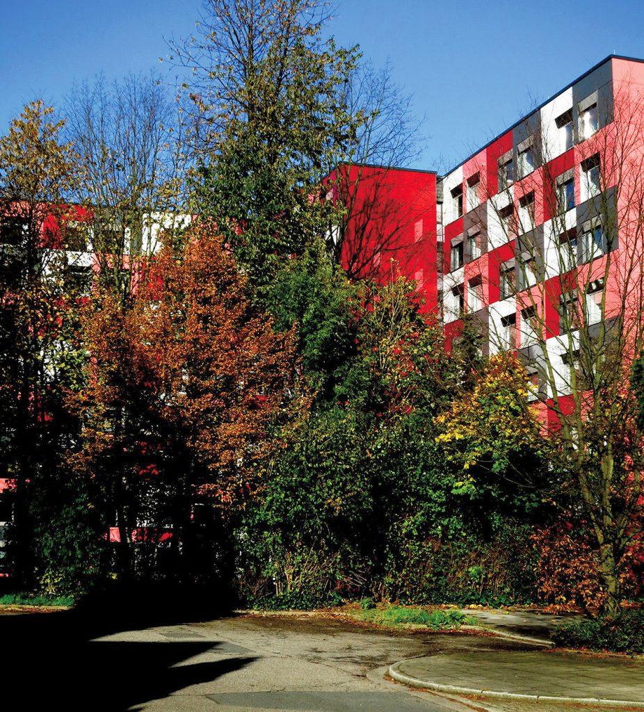 Farbe in der Architektur - Studentenwohnheim Essen, Friedrich Schmuck
