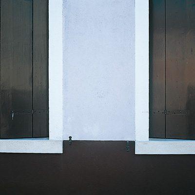 Farbe in der Architektur Häuserdetail in Burano