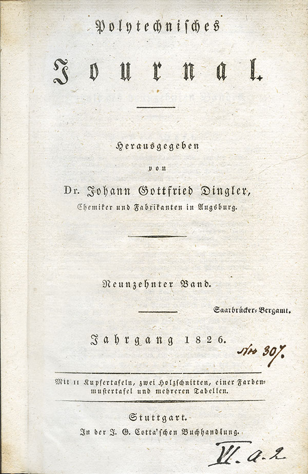 Polytechnisches Journal Gottfried Dingler