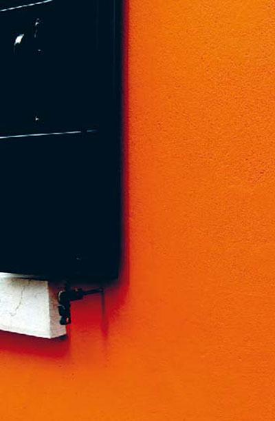 Farbige Häuserwände auf Burano - orange